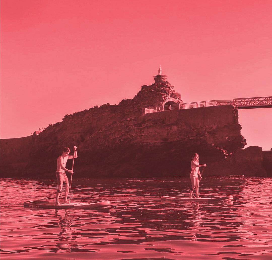 Location paddle Biarritz Hendaye Anglet Bidart Guethary St jean