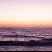 session à marée haute dans les landes