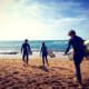 surfeurs sur une plage du pays basque