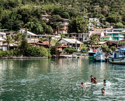 crique au Brésil à Florianopolis